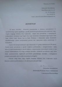 Aleksandra Marcinkiewicz_referencje_Lingo