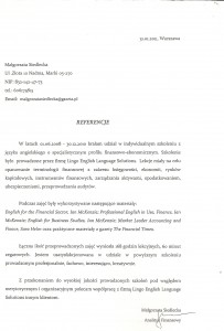 Małgorzata Siedlecka_Referencje_Lingo