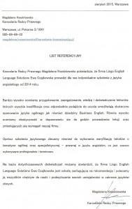 Magdalena Kwaśniewska_referencje_Lingo