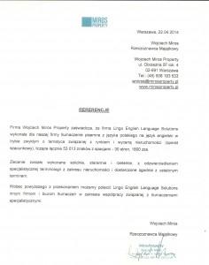Miros Property_Referencje_Lingo