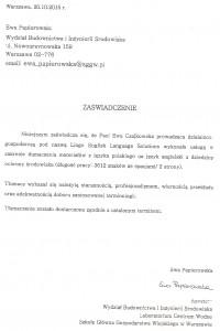 Referencje_Ewa Papierowska_Lingo
